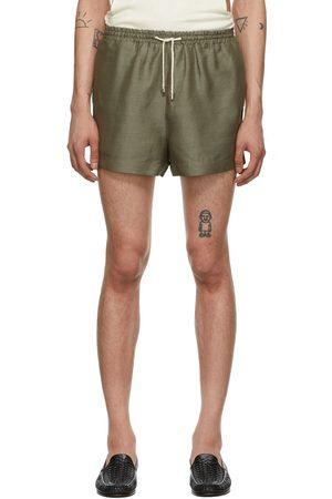 Carlota Barrera Khaki Linen Beach Shorts