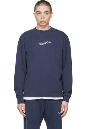Museum of Peace and Quiet Navy Word Mark Sweatshirt