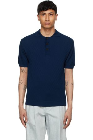 King and Tuckfield Navy Textured Polo
