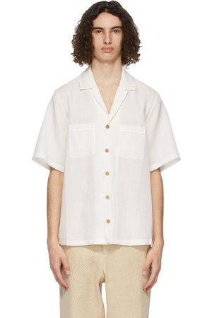 King and Tuckfield Linen Bowling Short Sleeve Shirt