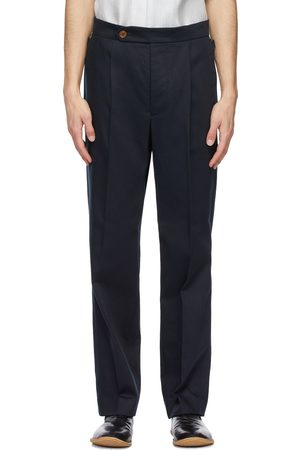 King and Tuckfield Navy Pleat Trousers
