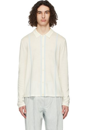 King and Tuckfield Off- Wool Striped Knit Shirt