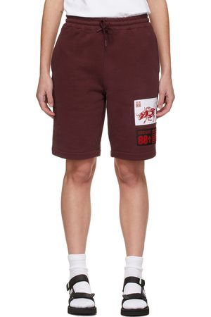 adidas SSENSE Exclusive 88rising Burgundy Patch Shorts