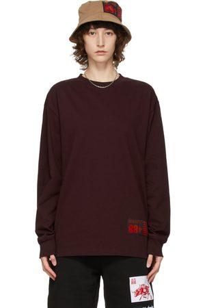 SSENSE WORKS Women Long Sleeve - SSENSE Exclusive 88rising Burgundy Ox Long Sleeve T-Shirt