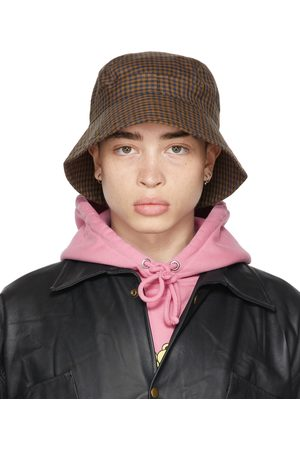 Liberal Youth Ministry And Navy Wool Plaid Bucket Hat