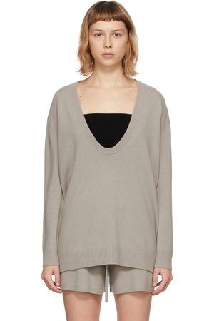 Lisa Yang Women Sweaters - Taupe Cashmere The Lori V-Neck Sweater