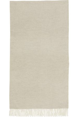 Loro Piana Grey Baby Cashmere Two-Tone Scarf