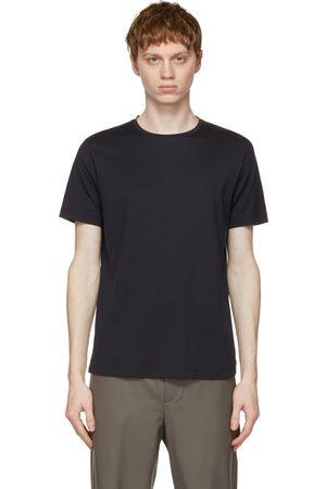 Loro Piana Navy Soft Silk Cotton T-Shirt