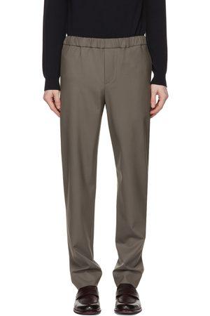 Loro Piana Grey Wool Leisure Flat Trousers