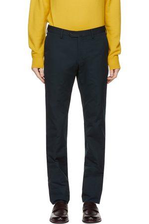 Loro Piana Navy Slim Pantaflat Trousers