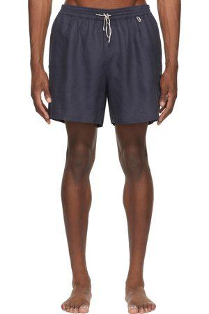 Loro Piana Navy Linen Miami Bay Swim Shorts