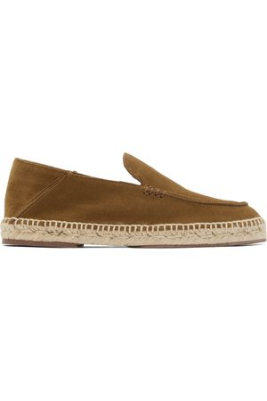 Loro Piana Tan Seaside Walk Espadrilles Loafers