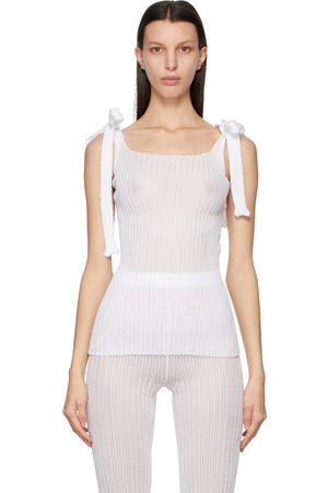 a. roege hove Women Tank Tops - Square Neck Bow Top