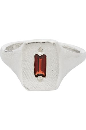 Seb Brown Garnet Baguette Signet Ring
