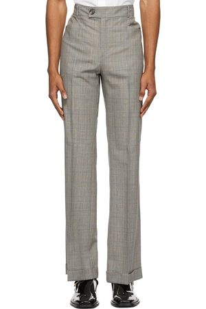 Ernest W. Baker Grey and Houndstooth Flare Trousers
