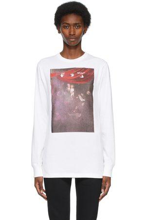OFF-WHITE Women Long Sleeve - Sprayed Caravaggio Long Sleeve T-Shirt