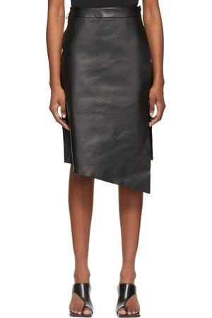 OFF-WHITE Leather Midi Skirt