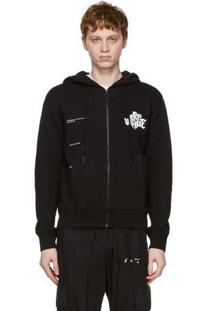 OFF-WHITE Blur Logo Zipped Hoodie