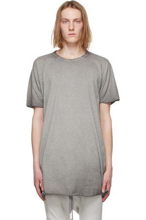 11 BY BORIS BIDJAN SABERI Grey Resin-Dyed One Piece T-Shirt