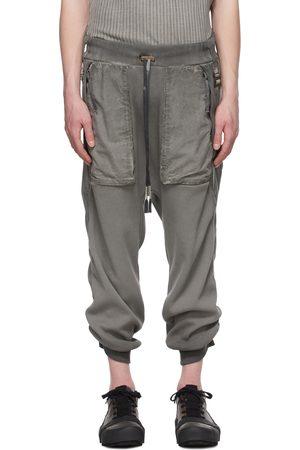 11 BY BORIS BIDJAN SABERI Men Sweats - Grey Resin-Dyed Long John Lounge Pants
