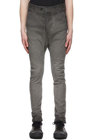 11 BY BORIS BIDJAN SABERI Grey Double Object-Dyed Jeans