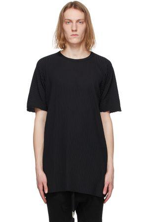 11 BY BORIS BIDJAN SABERI Rib Knit Resin-Dyed One Piece T-Shirt