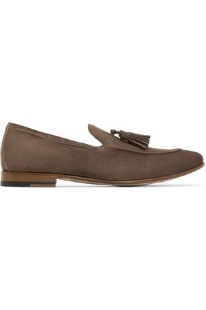 ISAIA Brown Suede Tassel Loafers