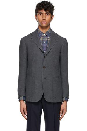 Ring Jacket Grey Wool Balloon Blazer