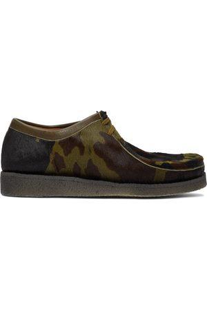 Padmore and Barnes Men Formal Shoes - SSENSE Exclusive Camo Original P204 Derbys