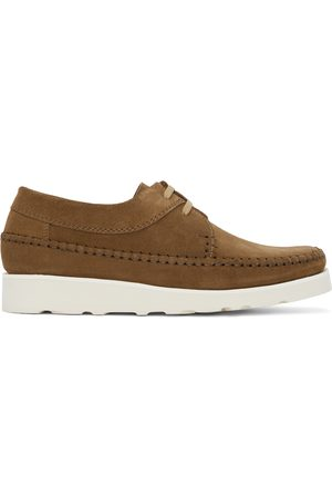 Padmore and Barnes Men Formal Shoes - SSENSE Exclusive Suede Willow Derbys