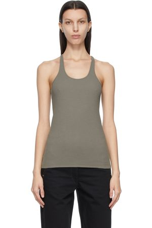 LEMAIRE Grey Crepe Jersey Tank Top