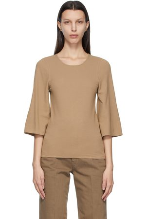 LEMAIRE Crepe Jersey Three-Quarter Sleeve T-Shirt