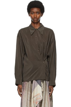 LEMAIRE SSENSE Exclusive Taupe Twisted Shirt