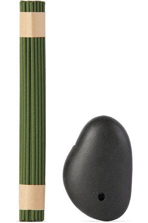 Binu Binu Stone Incense Burner & Green Tea Incense Set