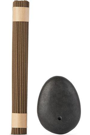 Binu Binu Stone Incense Burner & Sandalwood Incense Set