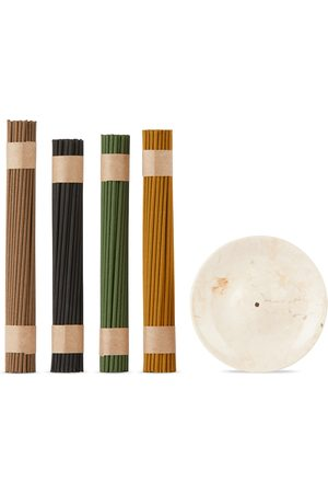 Binu Binu SSENSE Exclusive Marble Incense Burner & Incense Collection Set