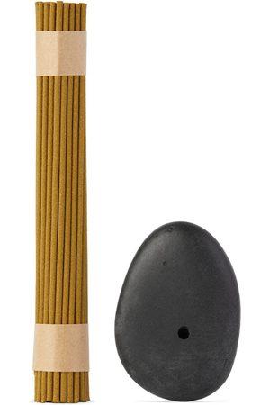 Binu Binu Stone Incense Burner & Hydrangea Tea Incense Set