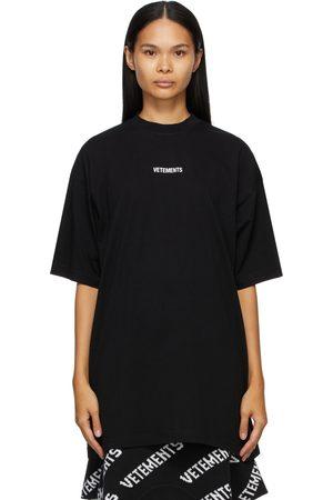 Vetements Women T-shirts - Logo Patch T-Shirt