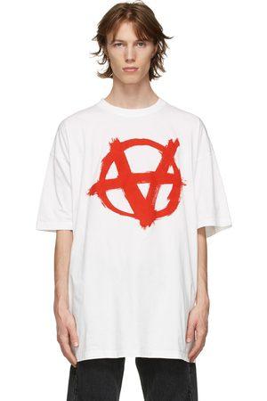 Vetements Men T-shirts - Oversized Anarchy Gothic Logo T-Shirt