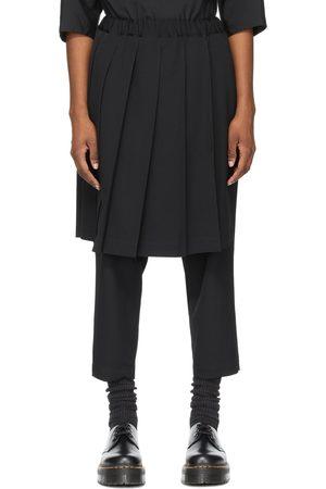 Comme des Garçons Wool Pleated Skirt Trousers