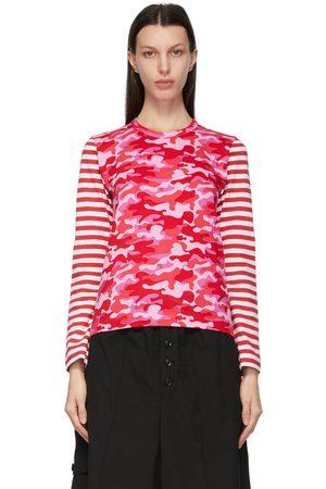 Comme des Garçons Women Long Sleeve - Camo and Stripe Long Sleeve T-Shirt