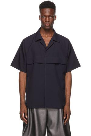 OVERCOAT Indigo Cape Shoulder Short Sleeve Jacket