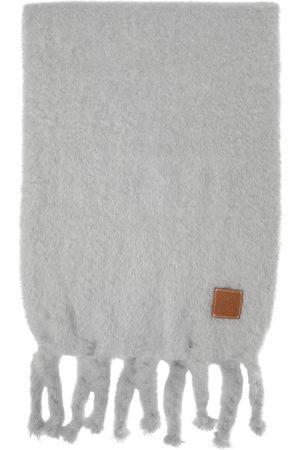 Loewe Women Scarves - Grey Mohair Scarf