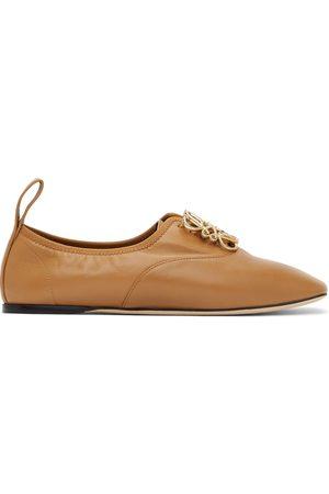 Loewe Women Formal Shoes - Tan Anagram Soft Derbys