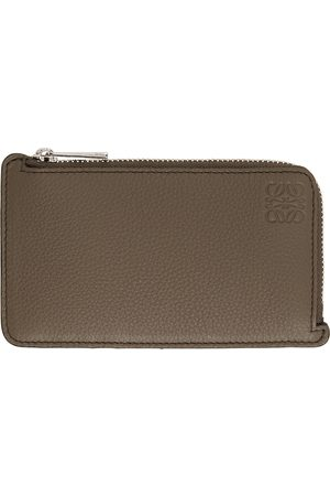 Loewe Taupe Coin Card Holder