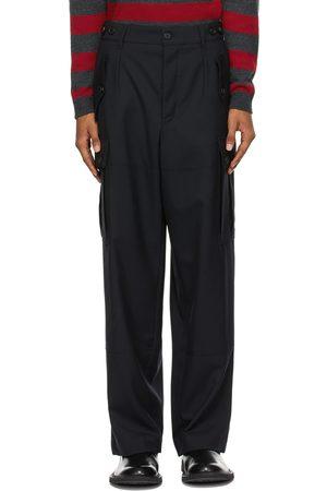 Loewe Men Cargo Pants - Wool Cargo Pocket Trousers