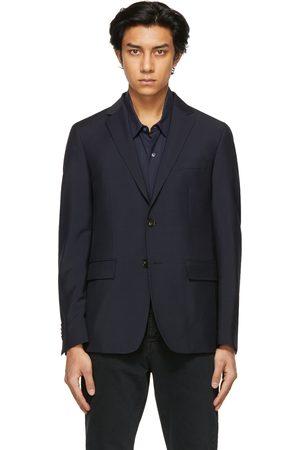 Harmony Navy Wool Victor Blazer