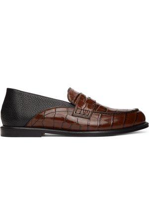 Loewe And Croc-Embossed Slip-On Loafers