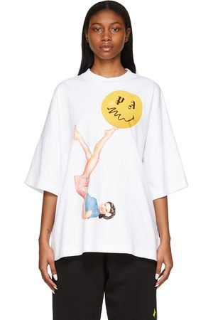 Palm Angels Smiley Edition Juggler Pin Up Loose T-Shirt