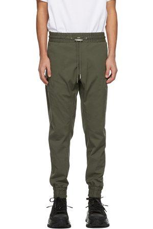 WOOYOUNGMI Men Sweatpants - Khaki Cotton Cuffed Sweatpants